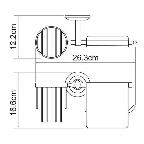Держатель для туалетной бумаги и освежителя WasserKRAFT Rhein K-6259