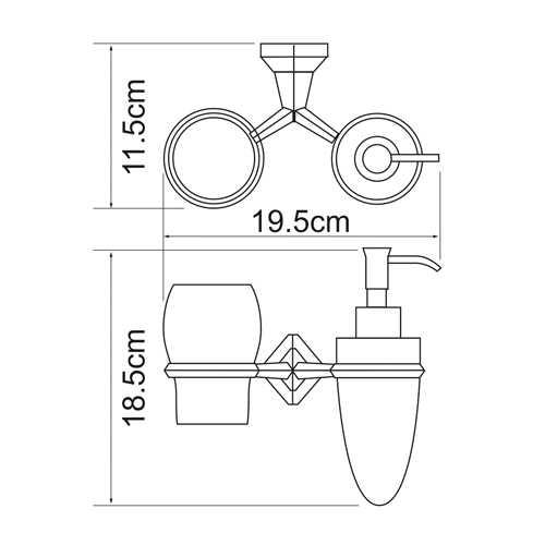 Держатель стакана и дозатора WasserKRAFT Aller K-1189