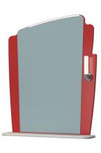 Зеркало Бормио 65C бело-красный ЯМебель