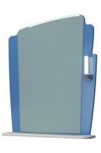 Зеркало Бормио 65C бело-синий ЯМебель