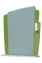 Зеркало Бормио 65C белый с оливой ЯМебель