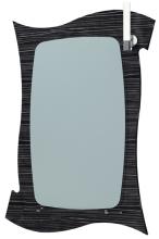 Зеркало Инверно 70С черная текстура ЯМебель