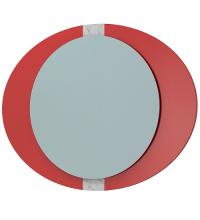 Зеркало Кальдео 90 LED красный глянец Glass ЯМебель