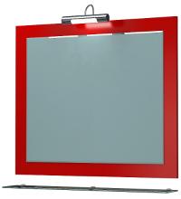 Зеркало Кватро 80С красный глянец ЯМебель