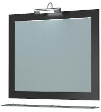 Зеркало Кватро 80С черный металлик ЯМебель