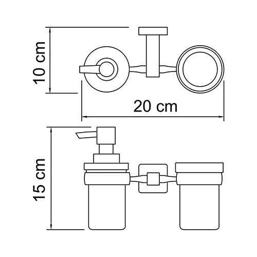 Держатель стакана и дозатора WasserKRAFT Lippe K-6589