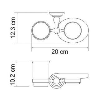 Держатель стакана и мыльницы WasserKRAFT Ammer K-7026