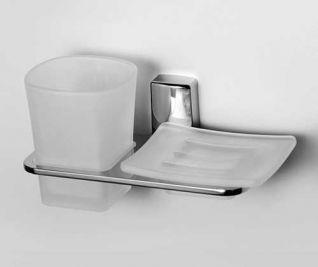 Держатель стакана и мыльницы WasserKRAFT Leine K-5026