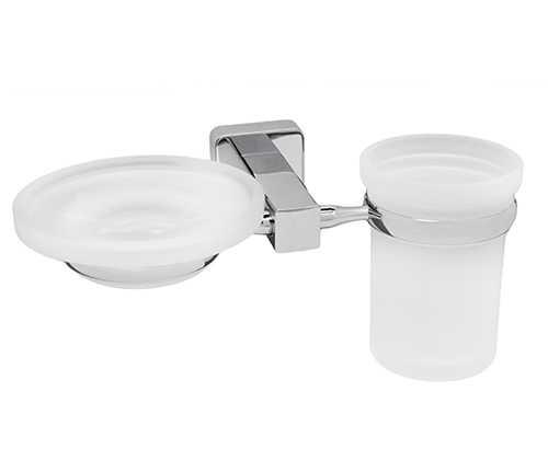 Держатель стакана и мыльницы WasserKRAFT Lippe K-6526