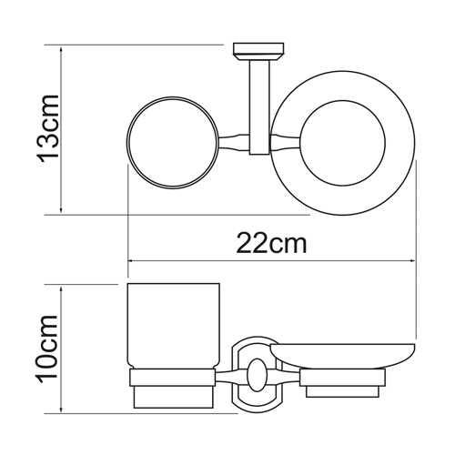 Держатель стакана и мыльницы WasserKRAFT Oder K-3026