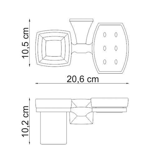 Держатель стакана и мыльницы WasserKRAFT Wern K-2526