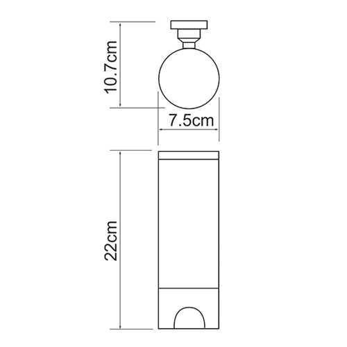 Диспенсер для ватных дисков WasserKRAFT K-1079