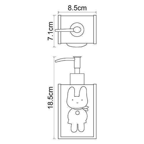 Дозатор жидкого мыла WasserKRAFT Ammer K-6499