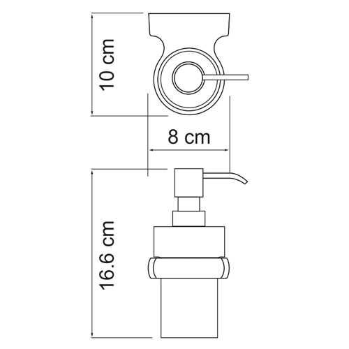 Дозатор с держателем WasserKRAFT Berkel K-6899