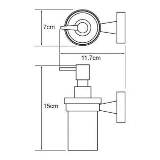 Дозатор с держателем WasserKRAFT Isen K-4099