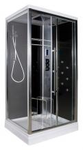 Душевая кабина Edelform EF-4050 R black S, с термостатом
