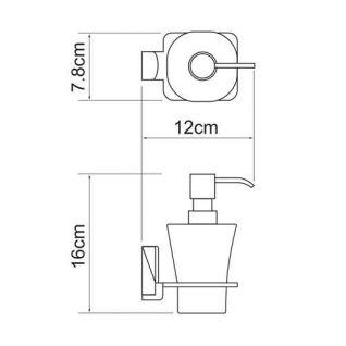 Дозатор с держателем WasserKRAFT Leine K-5099