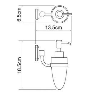 Дозатор с держателем WasserKRAFT Oder K-3099, 160 мл