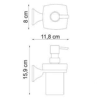 Дозатор с держателем WasserKRAFT Wern K-2599