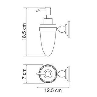 Дозатор стеклянный с держателем WasserKRAFT Ammer K-7099