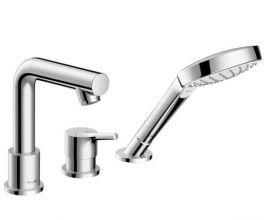 Смеситель для ванны и душа Hansgrohe Talis S (72417000) на борт ванны на 3 отверстия