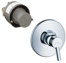 смеситель для ванны и душа наружная и скрытая часть Hansgrohe Focus S (31764000)