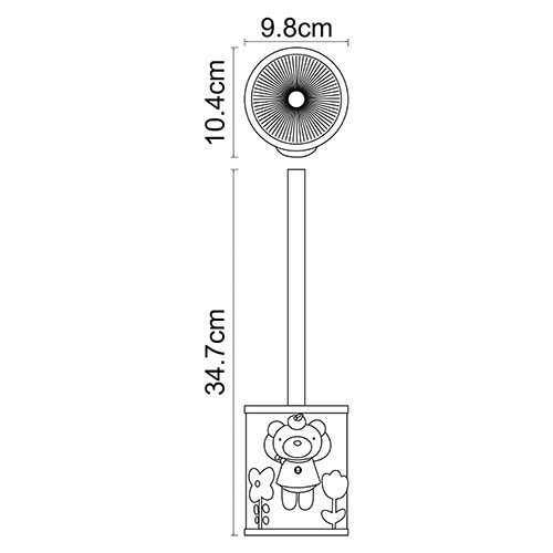Ерш для туалета WasserKRAFT Lossa K-3427