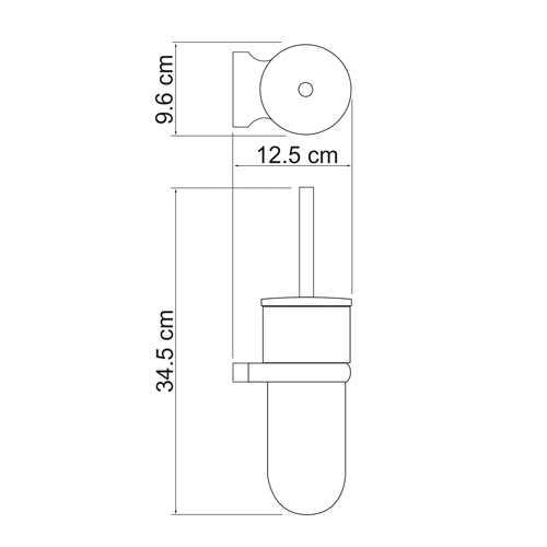 Ершик подвесной WasserKRAFT Berkel K-6827