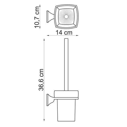 Ершик подвесной WasserKRAFT Wern K-2527