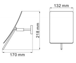 Зеркало WasserKRAFT K-1001 с 3-х кратным увеличением