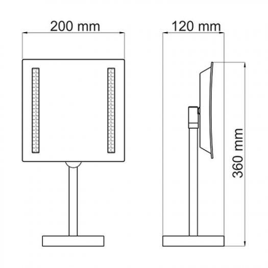 Зеркало WasserKRAFT K-1007 с 3-х кратным увеличением, с Led-подсветкой