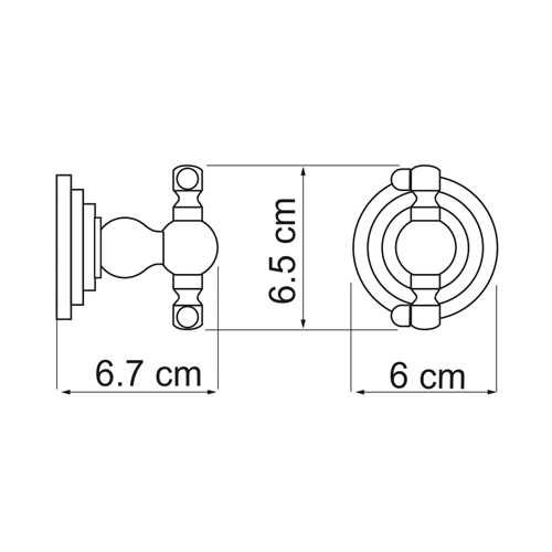 Крючок WasserKRAFT Ammer K-7023, двойной