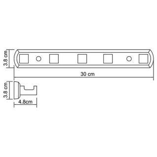 Крючок настенный WasserKRAFT Lippe K-6575, 5 крючков