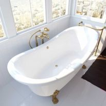 Ванна на опорах ФЭМА Стиль ГАБРИЭЛЛА 189 см (лапы) золото