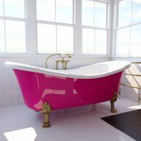 Ванна на опорах ФЭМА Стиль ГАБРИЭЛЛА 189 см (лапы) красный (RAL3002)