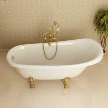 Ванна из литьевого мрамора ФЭМА Стиль Салерно белая, цветные ножки