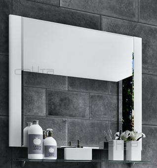 Зеркало Виктория 80 фацет, стеклянная полка СанТа