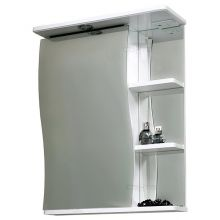 Зеркальный шкаф Волна 50 свет, лев СанТа