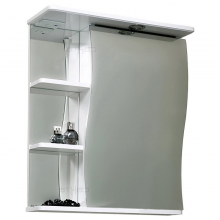Зеркальный шкаф СанТа Волна 60 с подсветкой правый