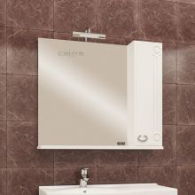 Зеркальный шкаф Санта Коралл 80 118002 с подсветкой, правый