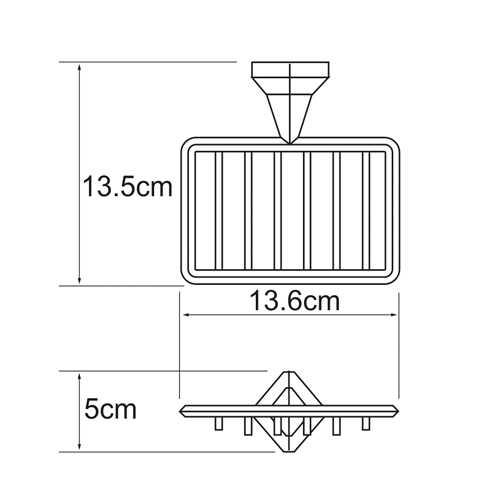 Мыльница-решетка WasserKRAFT Aller K-1169