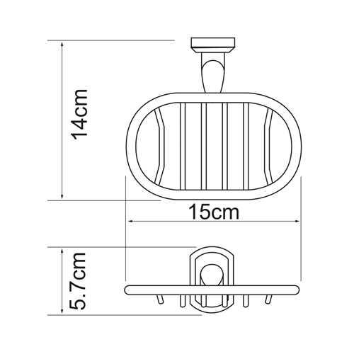Мыльница-решетка WasserKRAFT Oder K-3069