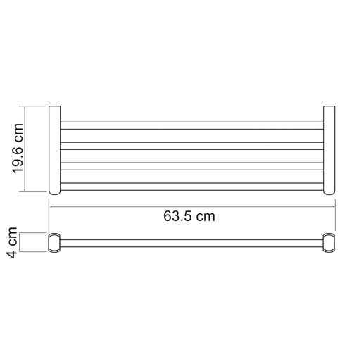 Полка для полотенец WasserKRAFT Berkel K-6811