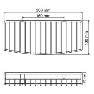 Полка металлическая WasserKraft K-1311
