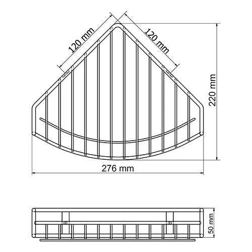Полка металлическая WasserKraft K-1711 угловая