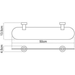 Полка стеклянная WasserKRAFT Donau K-9424