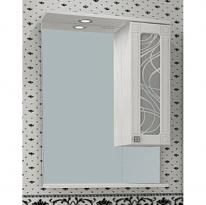 Шкаф-зеркало Альфа Кристалл-65 прав. ASB-Mebel