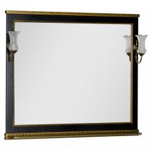 Зеркало Aquanet Валенса 110 черный каркалет/золото арт.180291