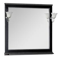 Зеркало Aquanet Валенса 110 черный каркалет/серебро арт.180291