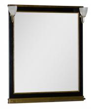 Зеркало Aquanet Валенса 100 черный каркалет/золото арт.180290